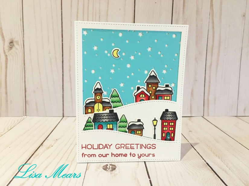 lawn fawn winter village card