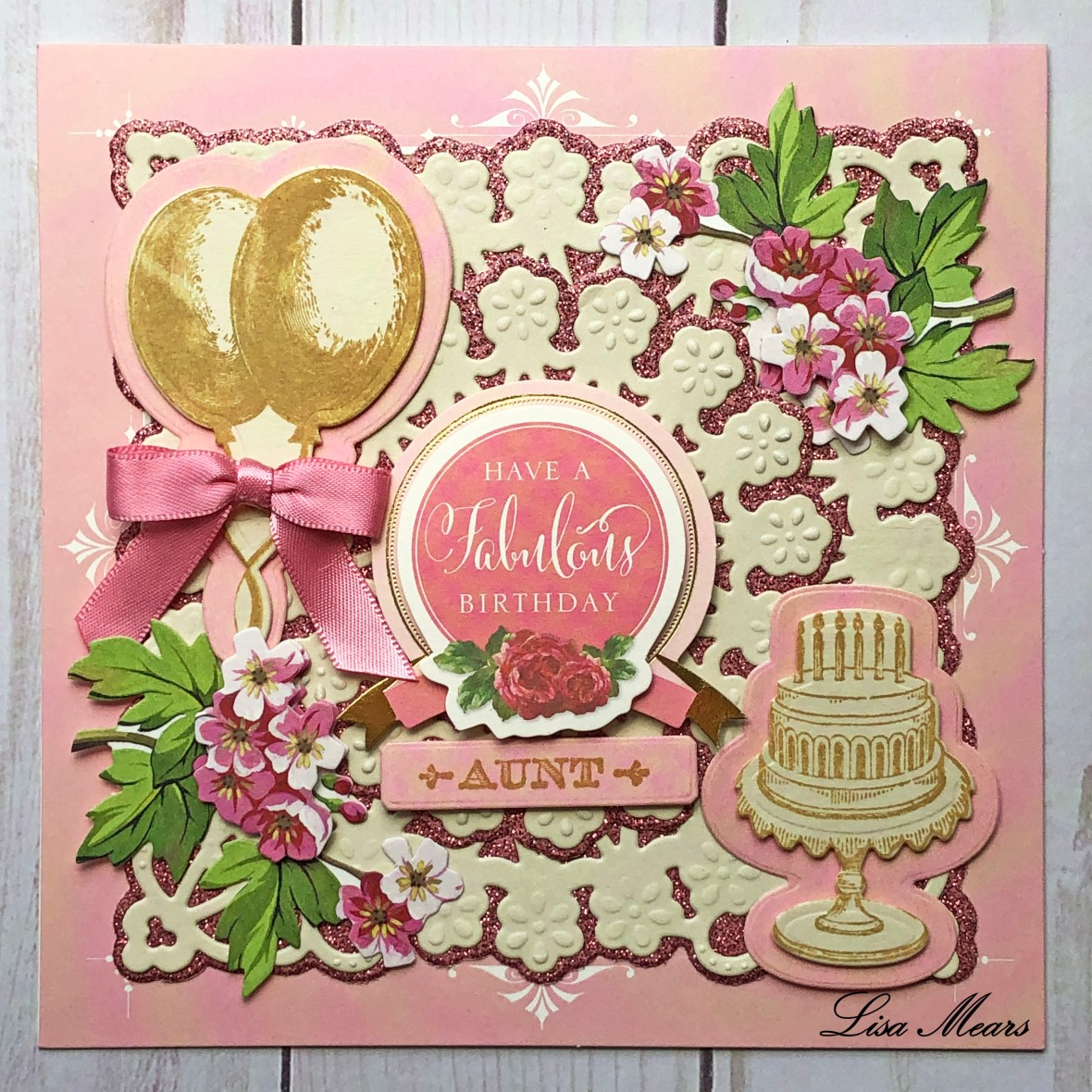 Anna Griffin Pink Birthday Card Square 2019-04