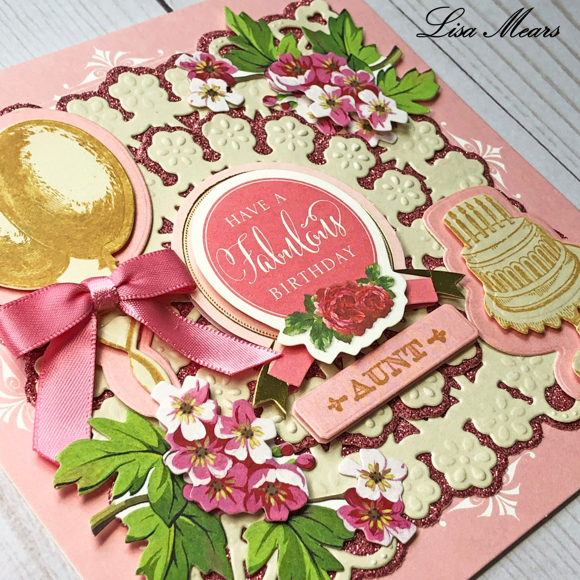 Anna Griffin Pink Birthday Card Square_closeup 2019-04