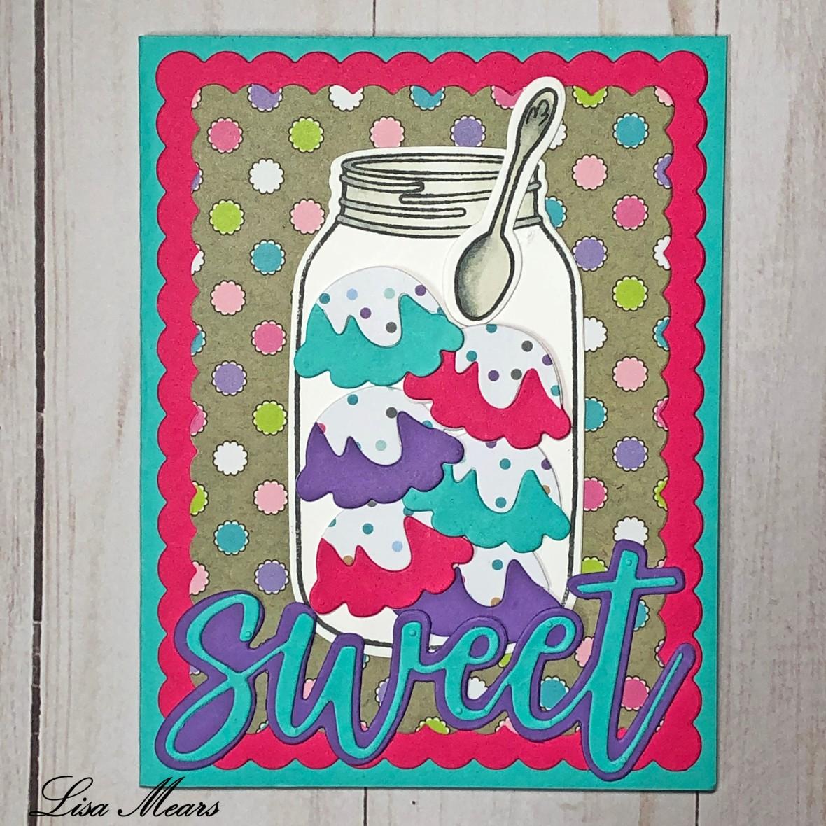 Mason Jar Ice Cream Card