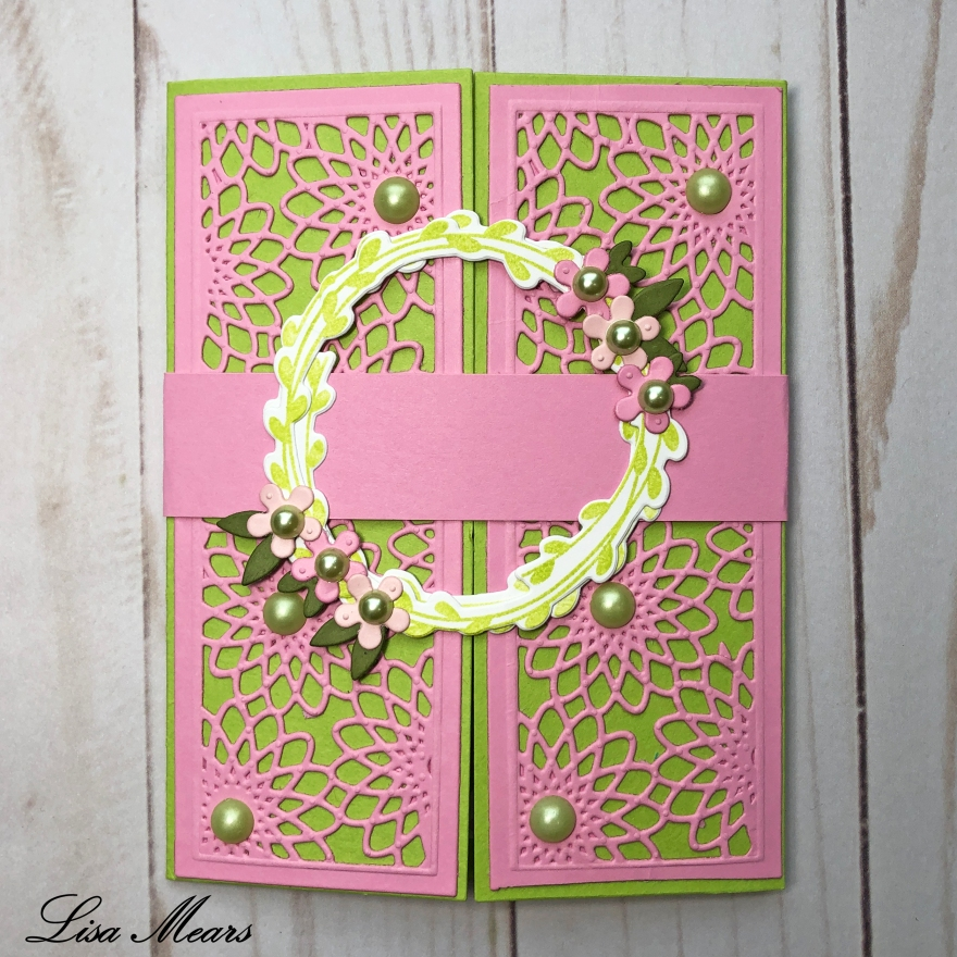 The Stamps of Life Wreath Gatefold Card