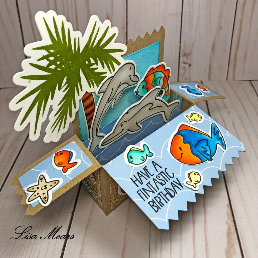 Ocean Pop Up Card