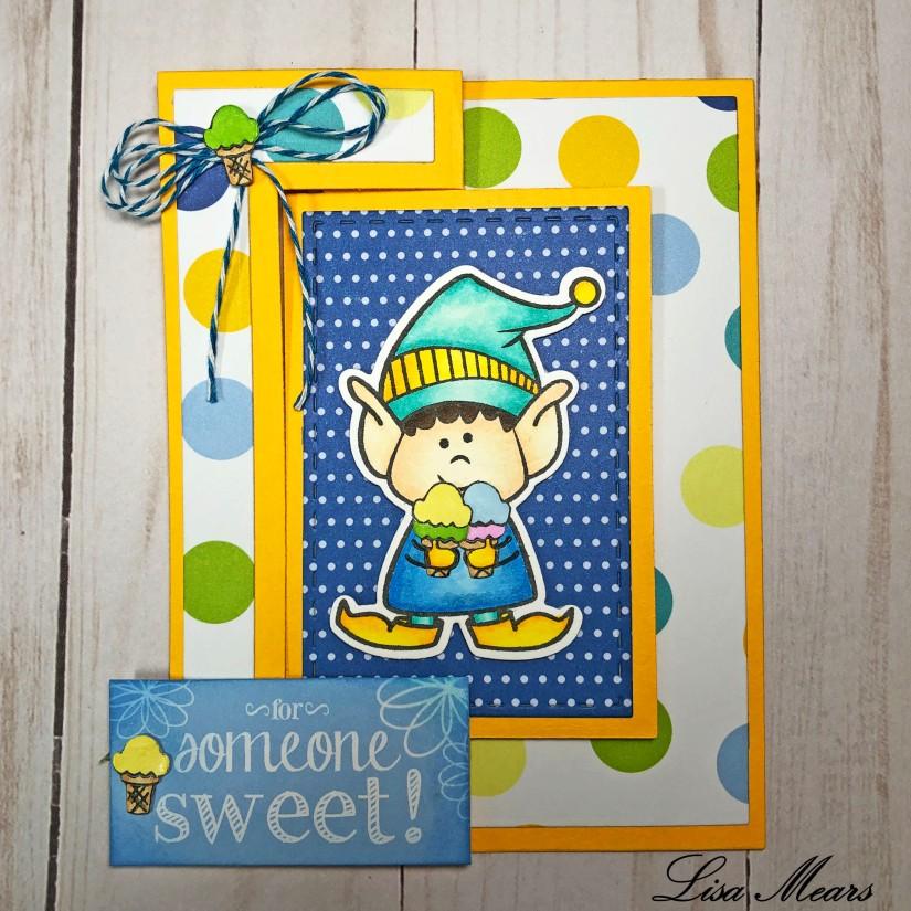 Elf Ice Cream Card