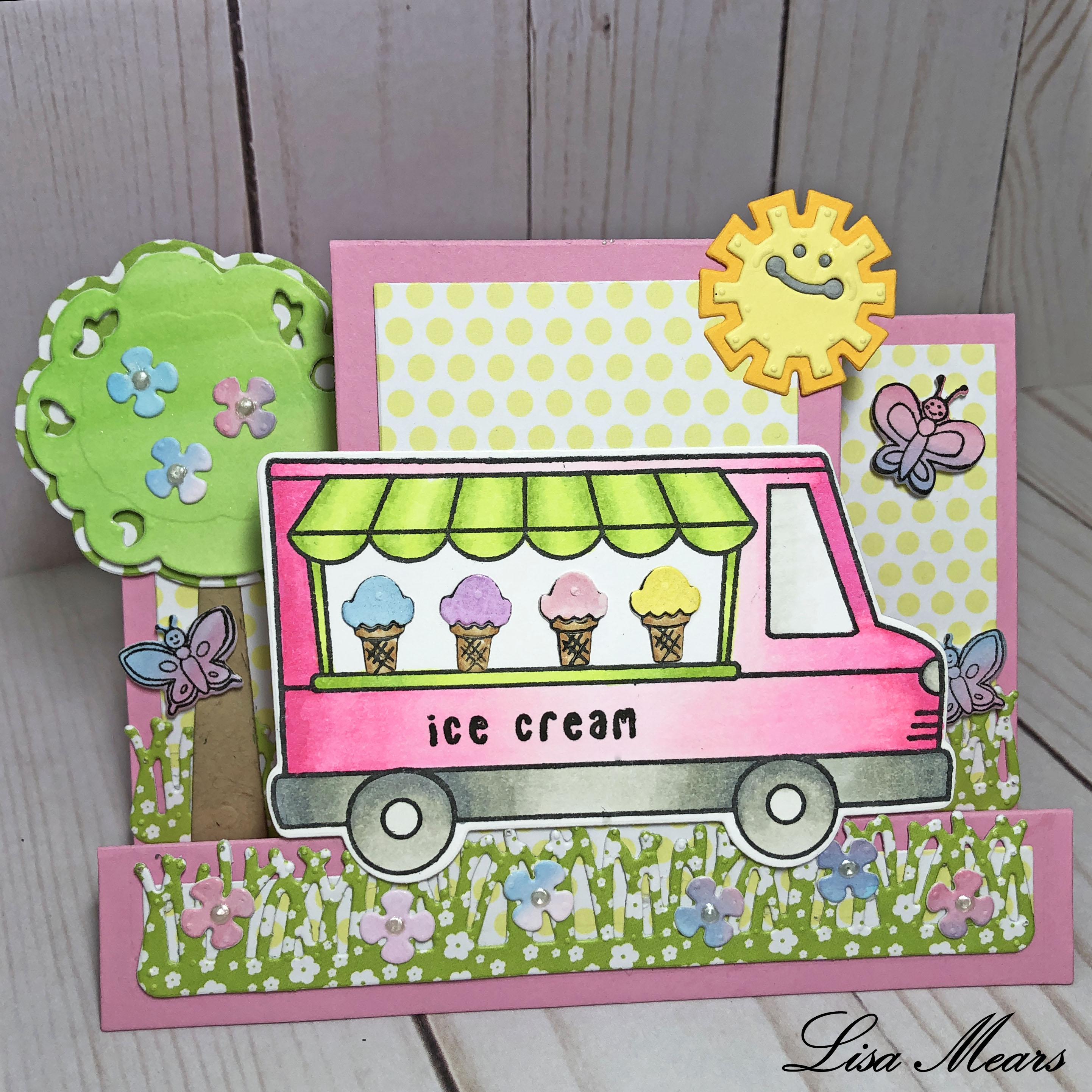 Ice Cream Truck Stand Up Card
