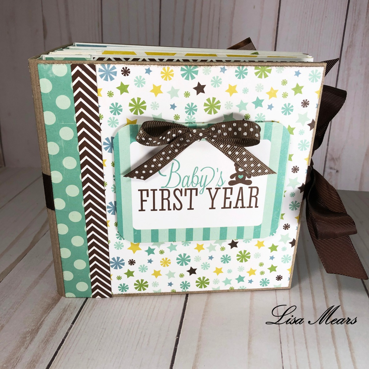 Mini Album - Baby's First Year - Bundle of Joy Collection by Echo Park Paper Co
