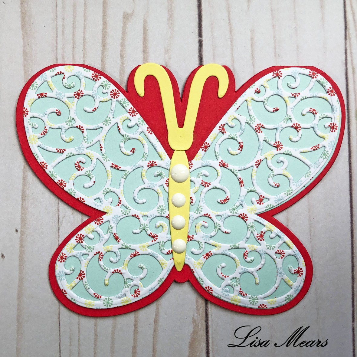 Butterfly Fold It Card The Stamps of Life