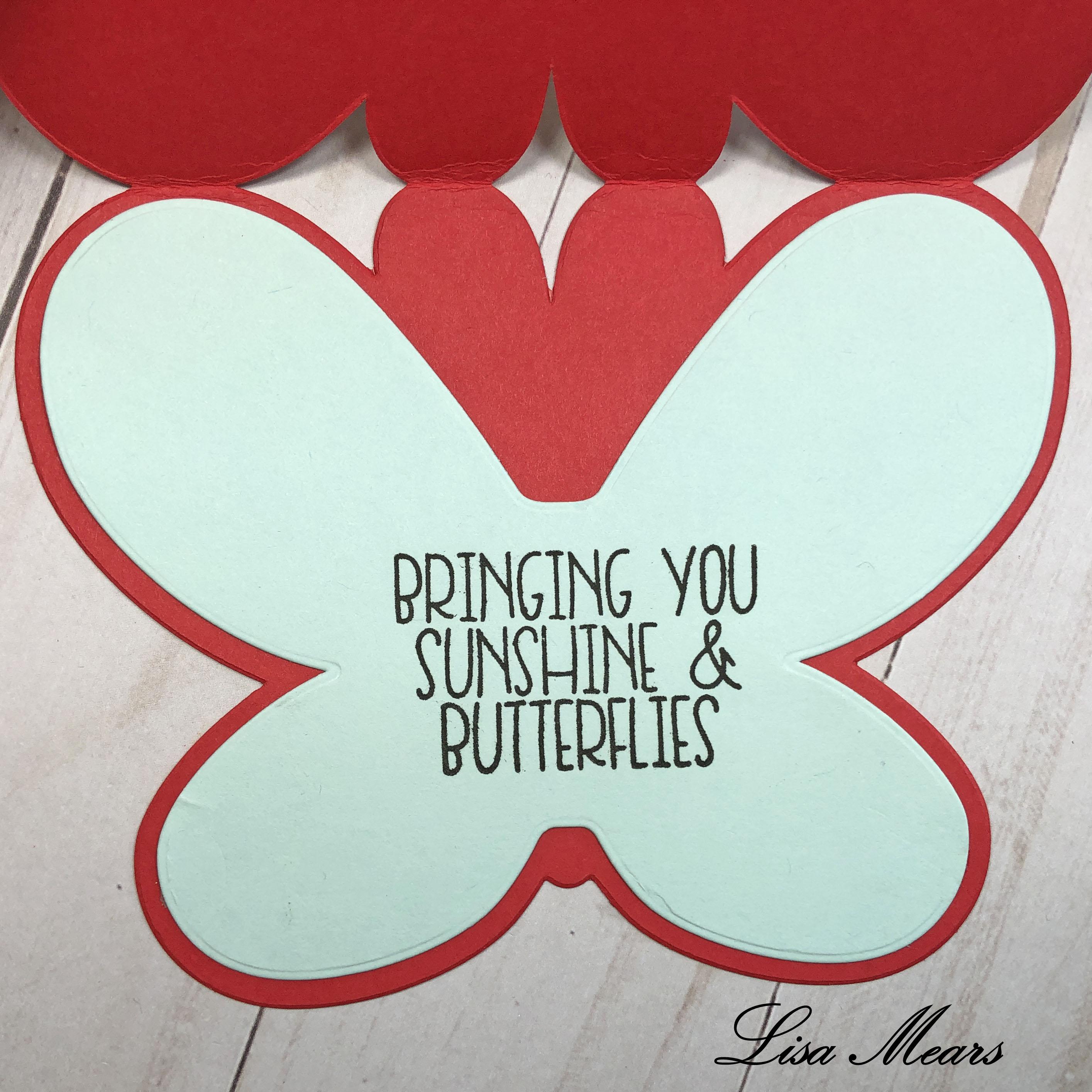 Butterfly Fold It Card Inside