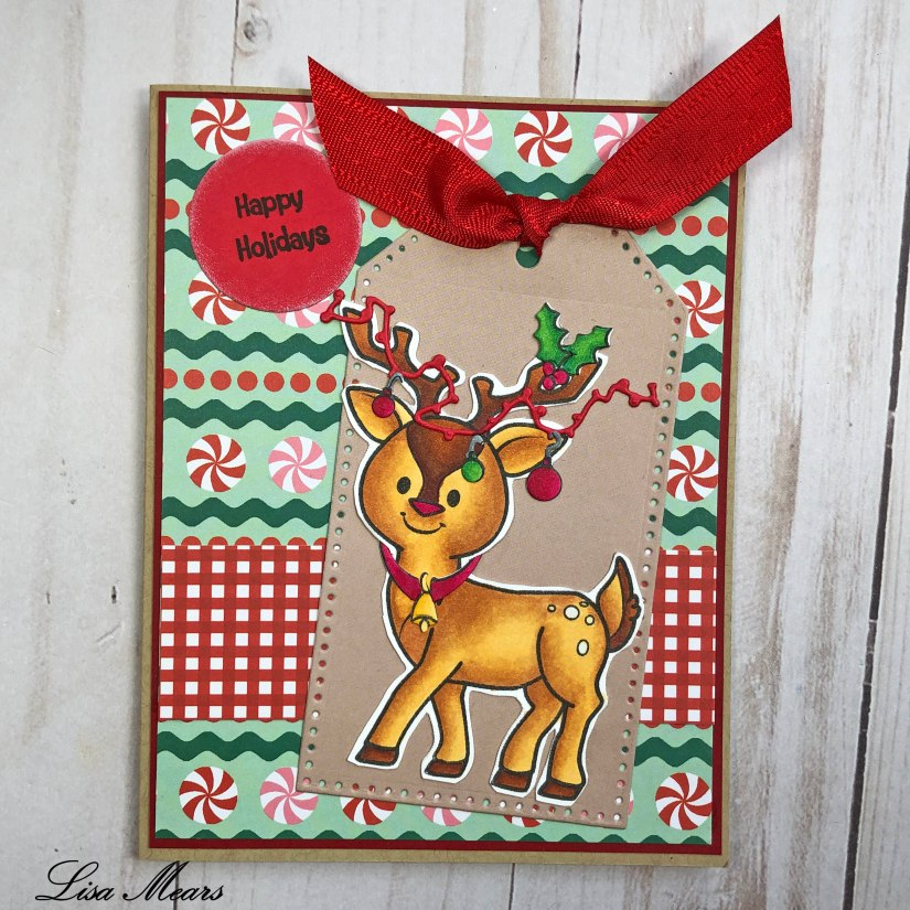The Stamps of Life Reindeer2Stamp Card with Tag