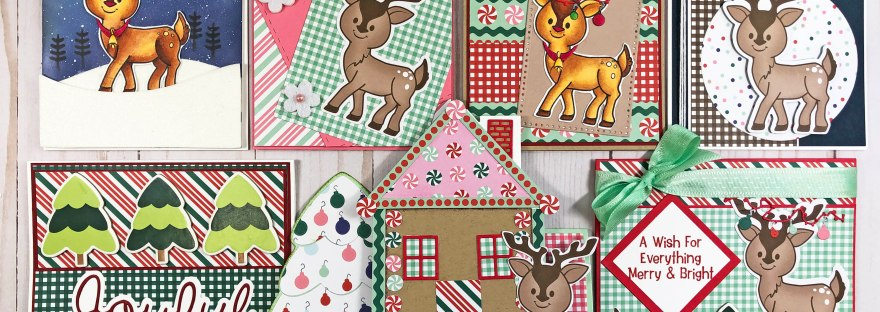 The Stamps of Life September 2019 Card Kit and Reindeer2Stamp - 7 Cards