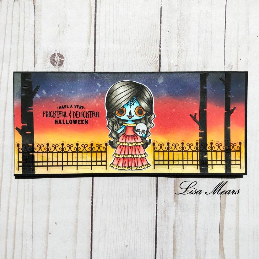 Stamp Anniething Halloween Card using Viva la Vida Stamp