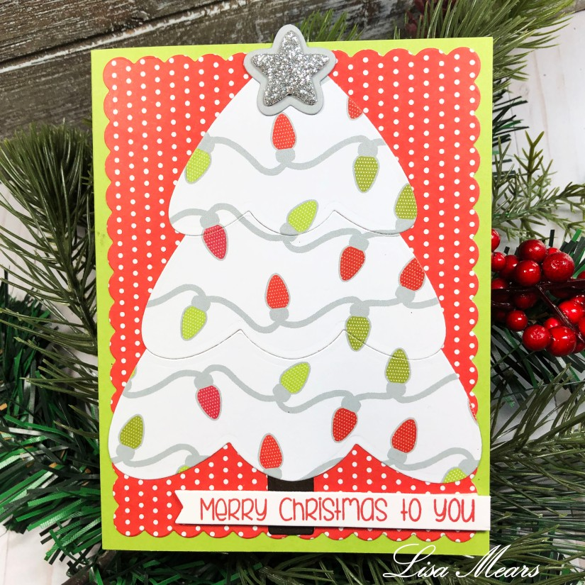 The Stamps of Life Christmas Tree Fold-it A2 Sized Card