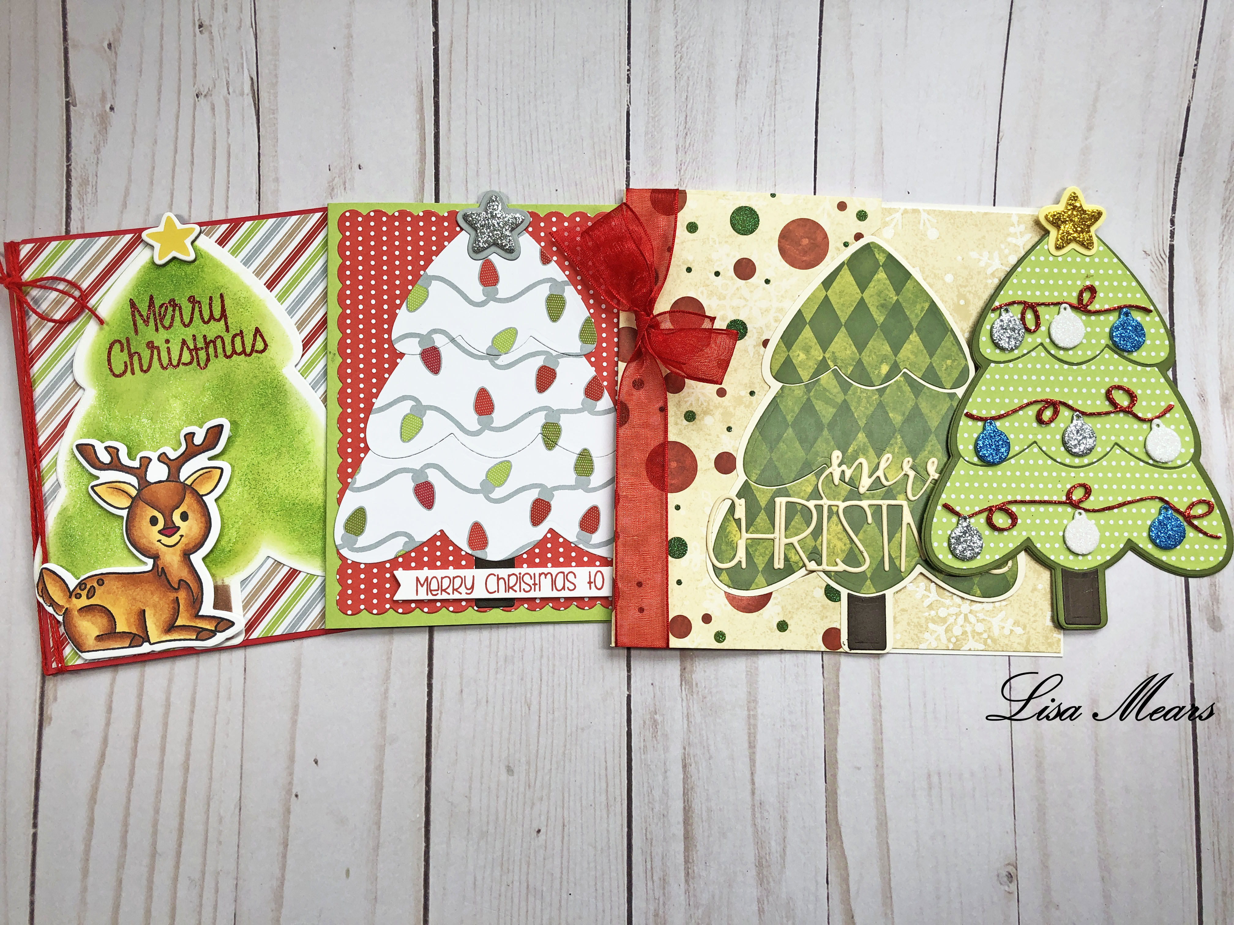 The Stamps of Life Christmas Tree Fold-it Die Set (4 Cards)