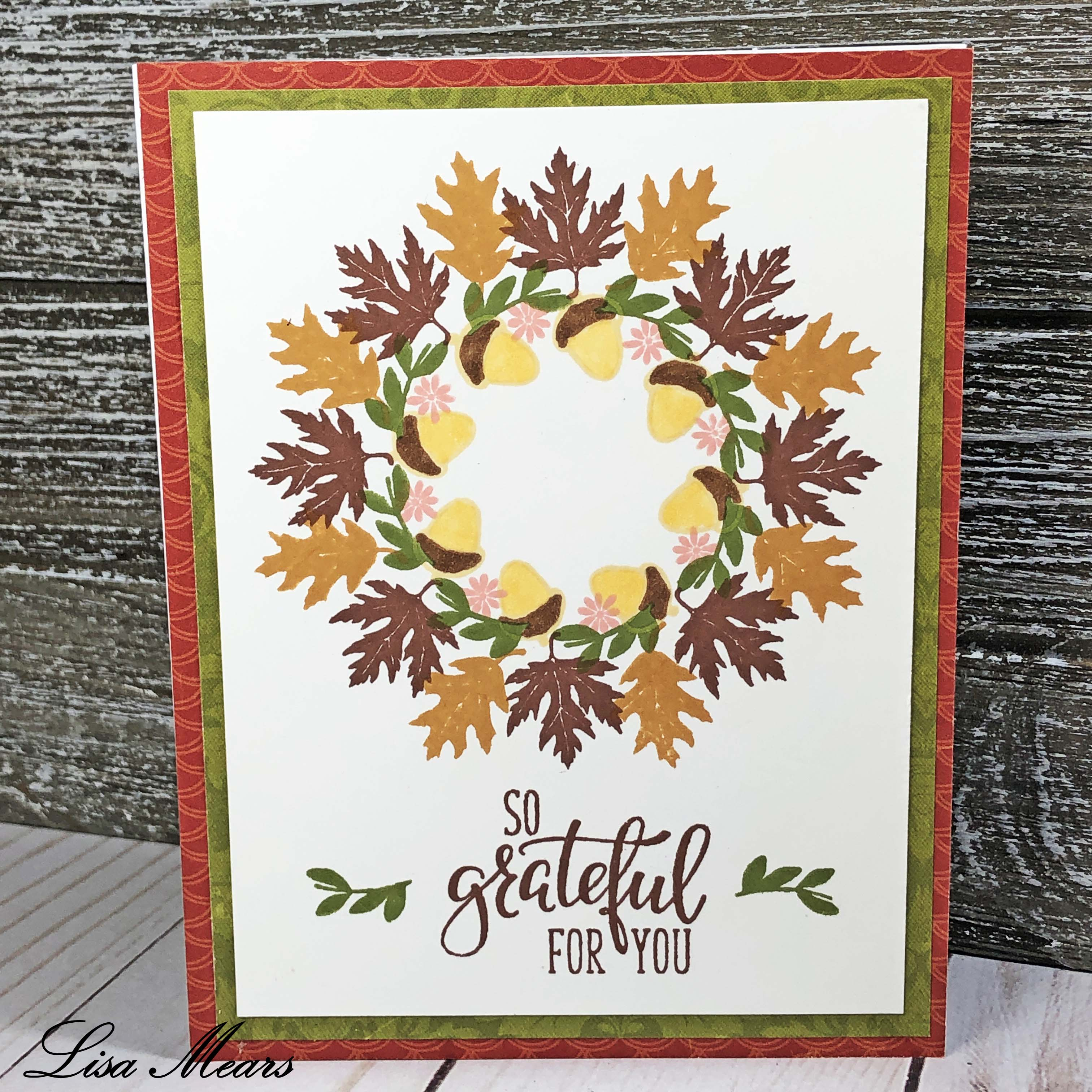 Gina K Designs Wreath builder fall card long