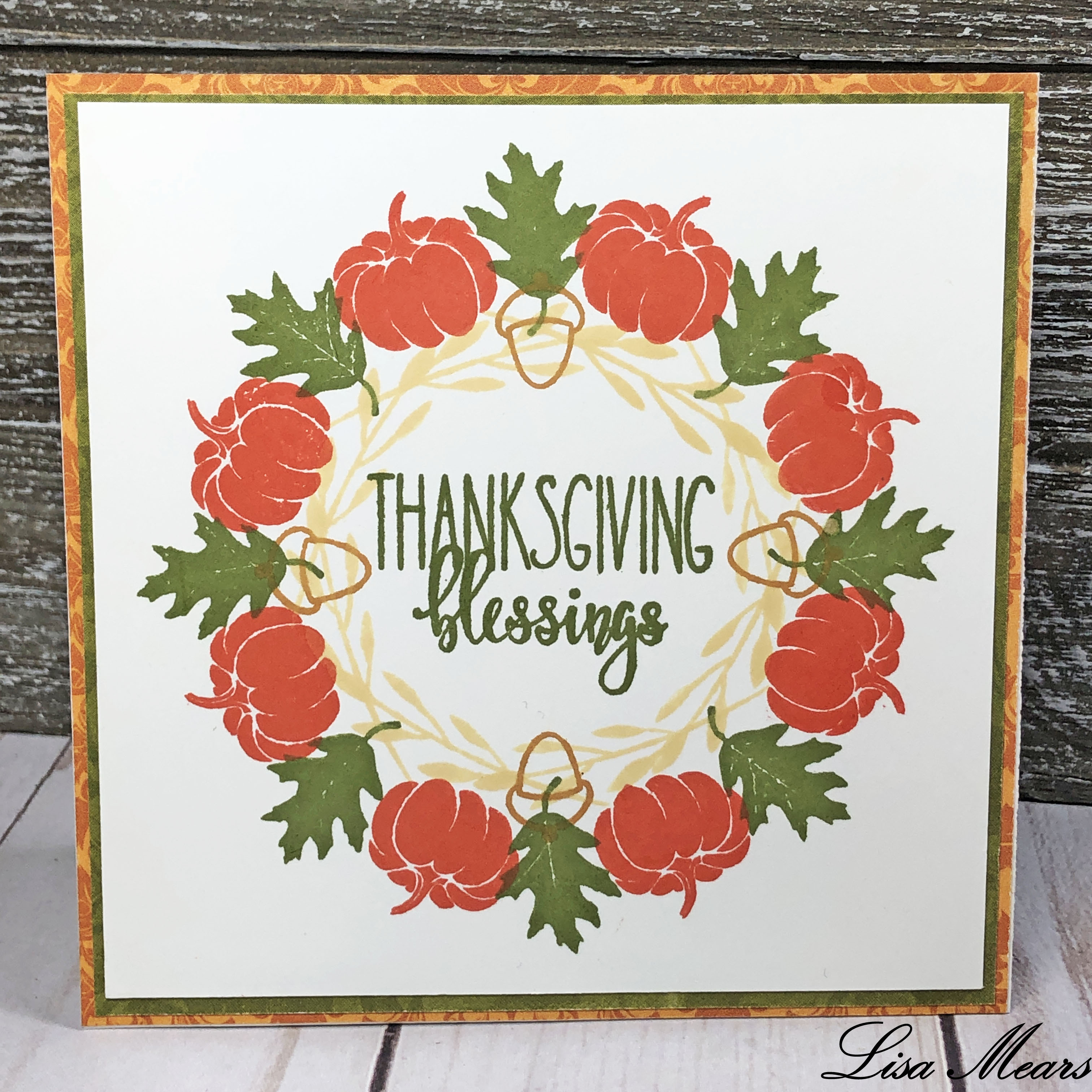 Gina K. Designs Wreath Builder Fall Card