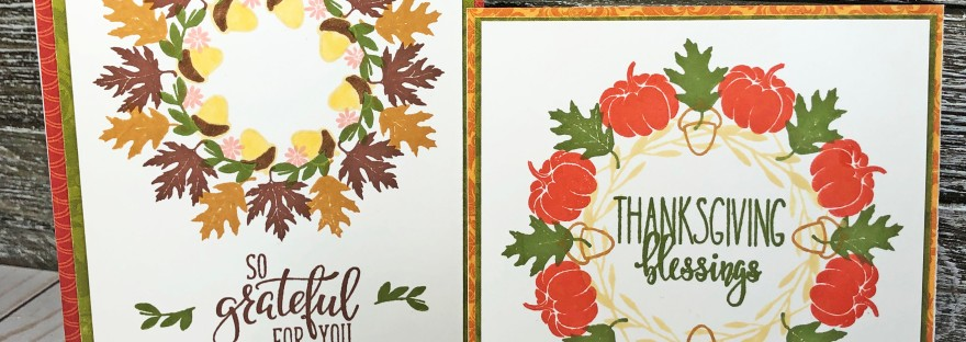 Gina K. Designs Wreath Builder Fall Cards