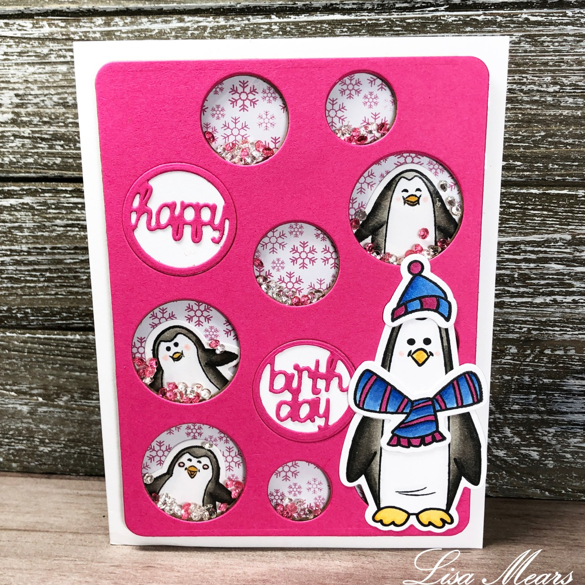 The Stamps of Life November Card Kit and Penguins2Stamp Shakjer Card