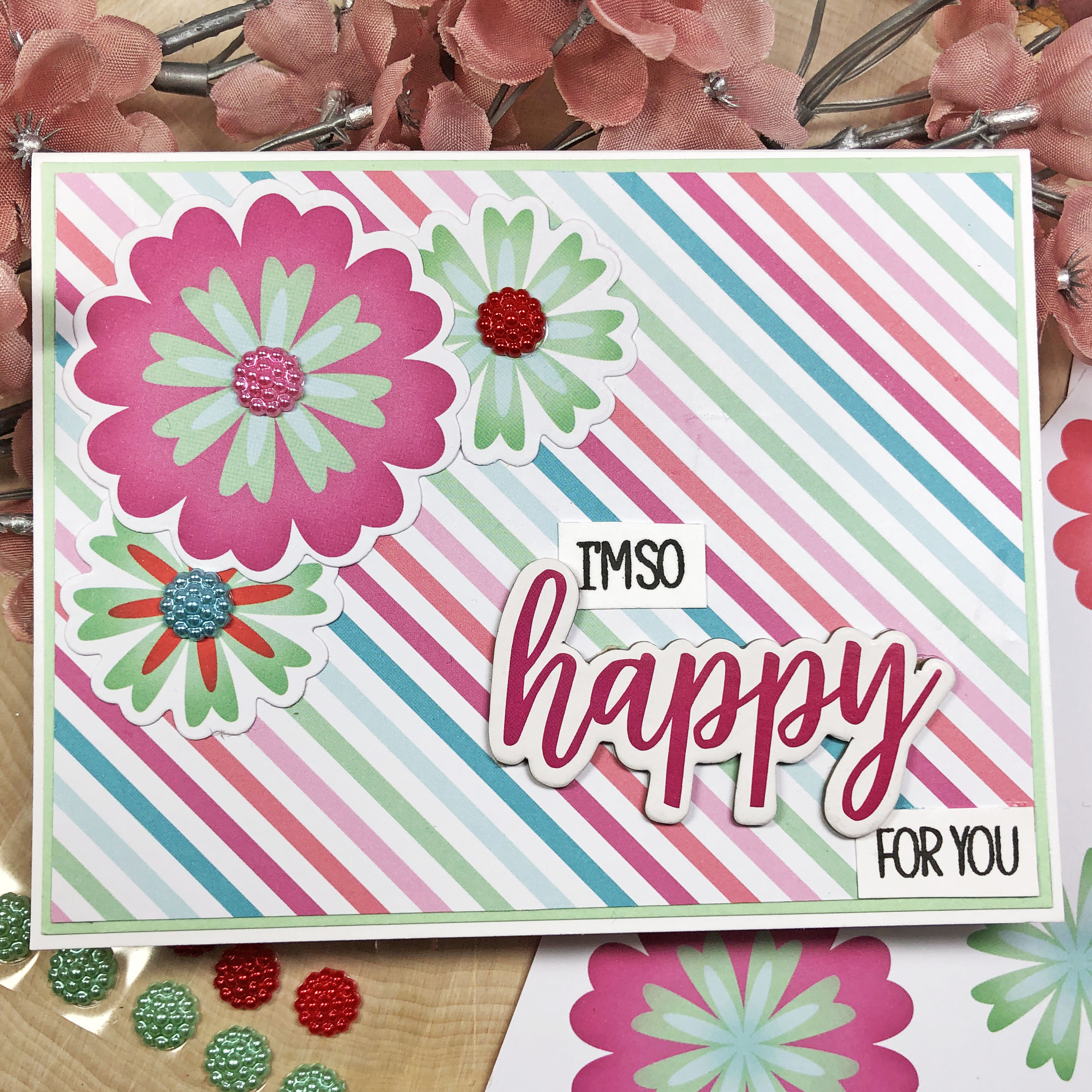 The Stamps of Life December 2019 Card Kit - 6 Card Tutorial using the card kit and Flower2BuildOne dies.