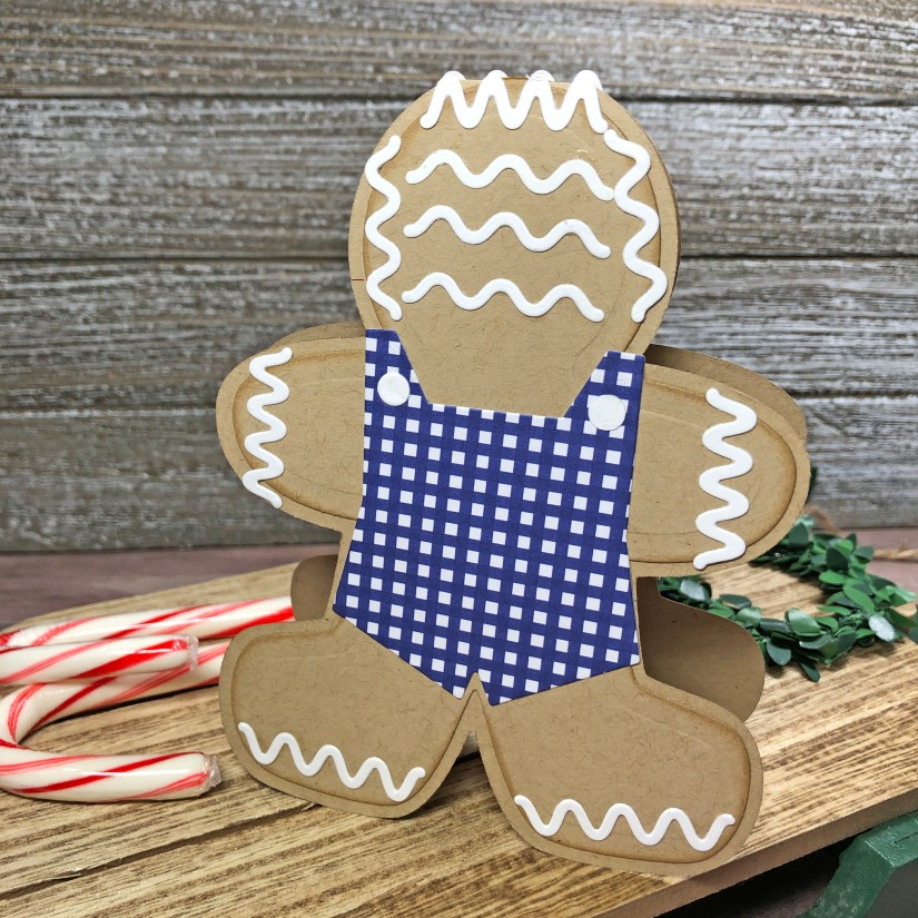Gingerbread Man Fold It Card - The Stamps of Life