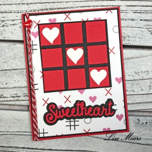 Valentine's Day Card using Tic Tac Toe Dies