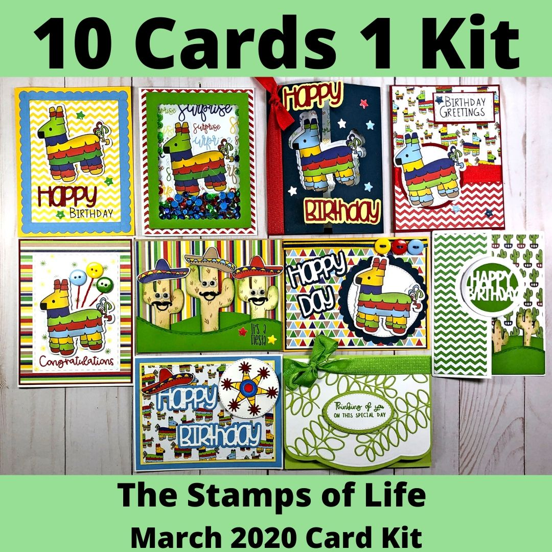 The Stamps of Life March 2020 Card Kit - 10 Cards 1 Kit  Tutorial