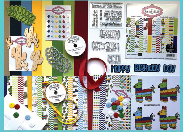 The Stamps of Life March 2020 Card Kit Contents