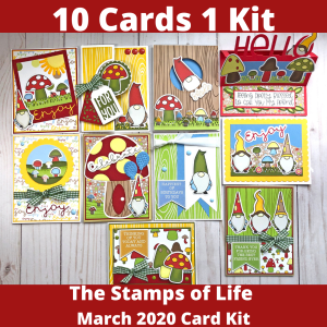 10 Cards 1 Kit April 2020 The Stamps of Life Card Kit