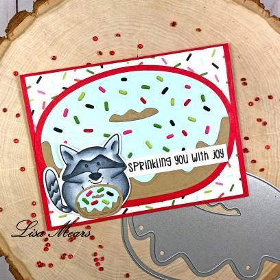 Donut Card with Raccoon