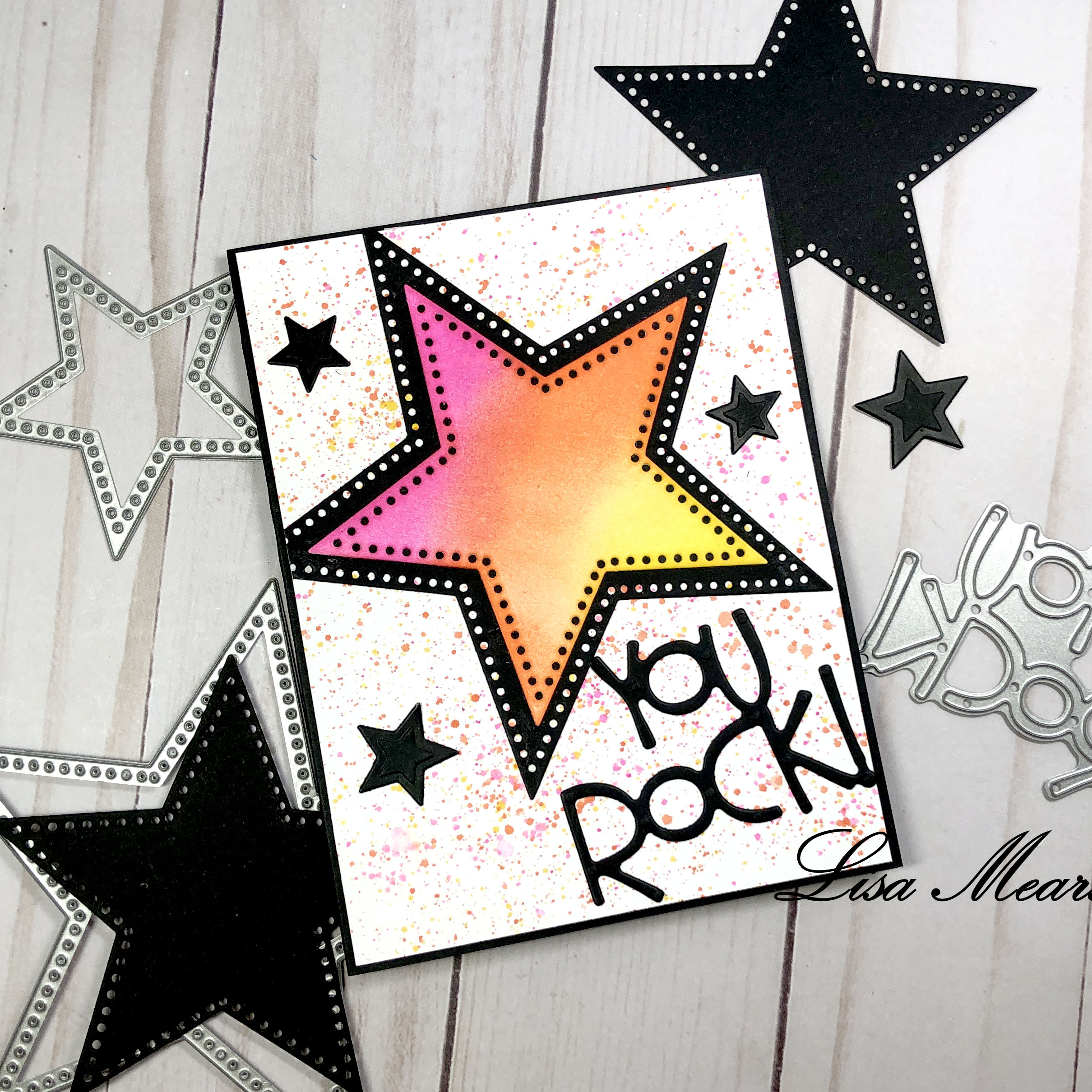You Rock Card with splatter background