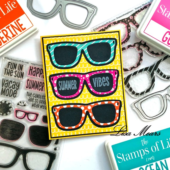 Fun Patterns for Sunglasses Handmade Card