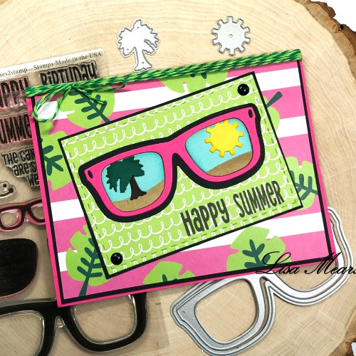 Card using Sunglasses2Stamp - The Stamps of Life