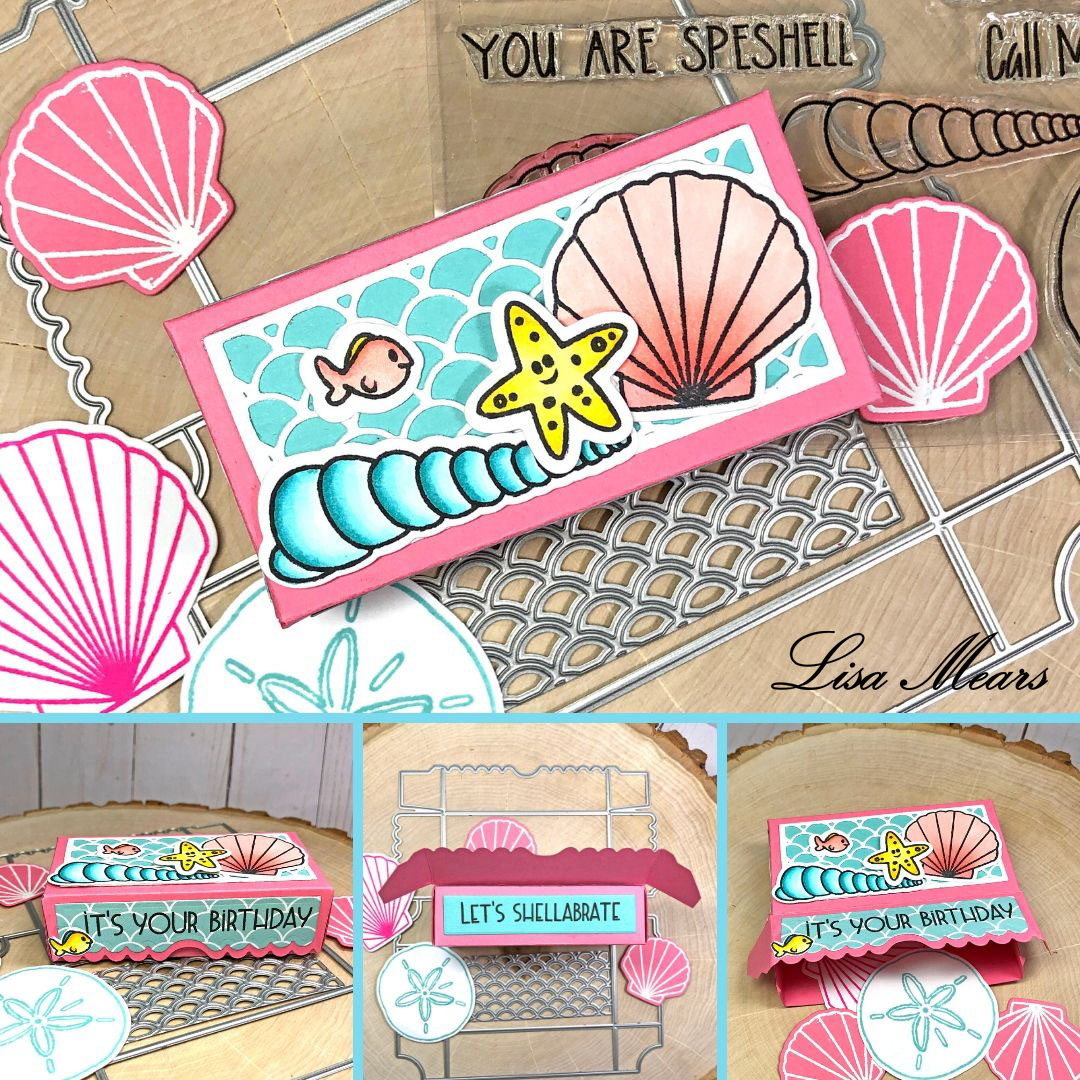 Scallop Mermaid Box - Beach Theme