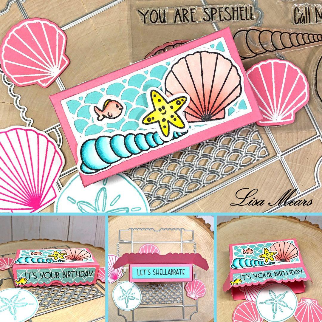 Scallop Mermaid Box - Beach Theme