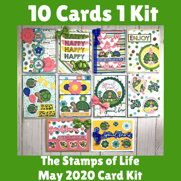 10 Cards 1 Kit The Stamps of Life May Card Kit