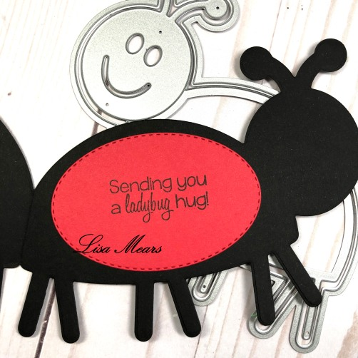 Ladybug Shaped Card
