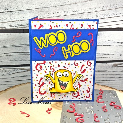 Pop Up Card with Confetti Background