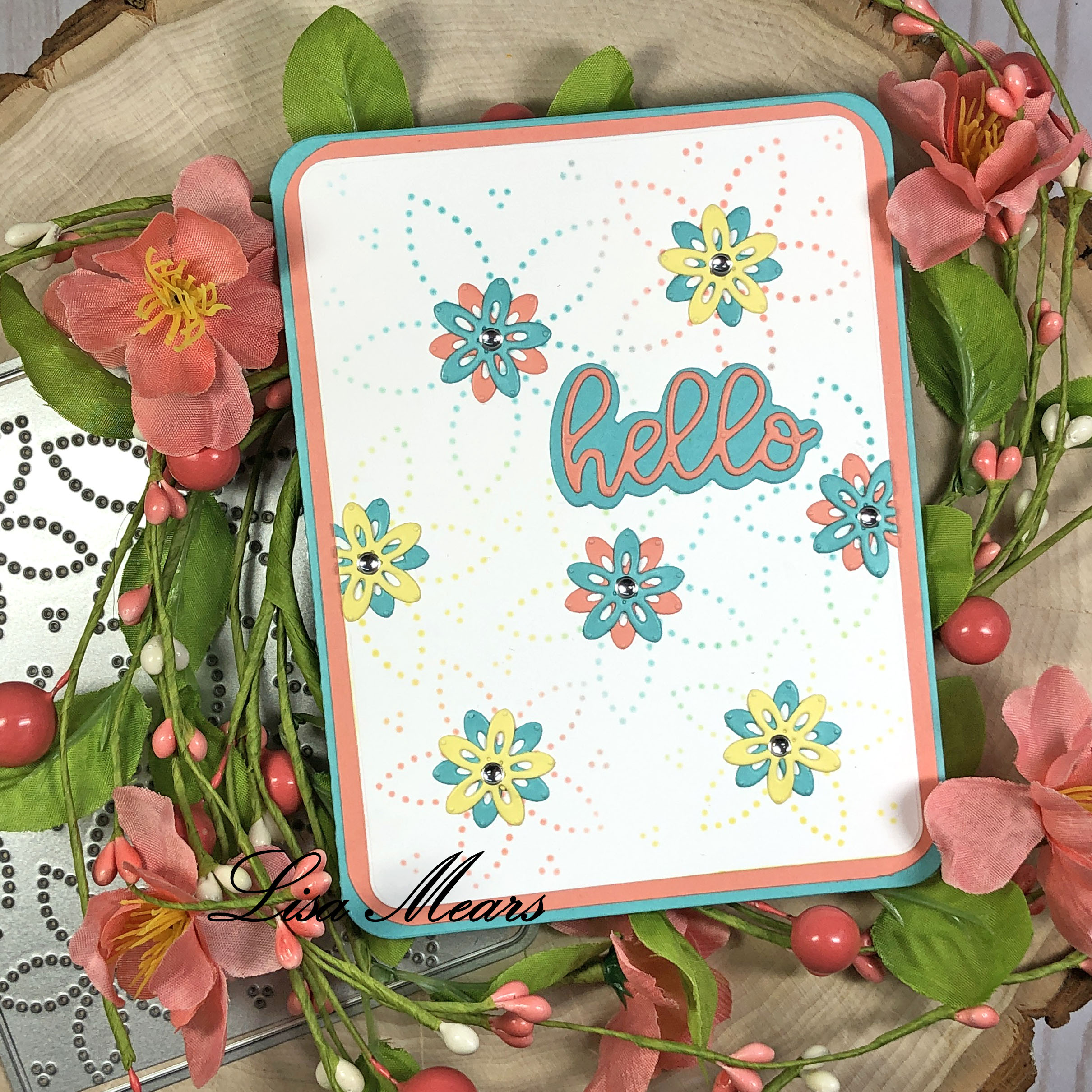 Dotted Flower Background Die - The Stamps of Life