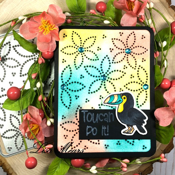 Dotted Flower Background. Die - The Stamps of Life