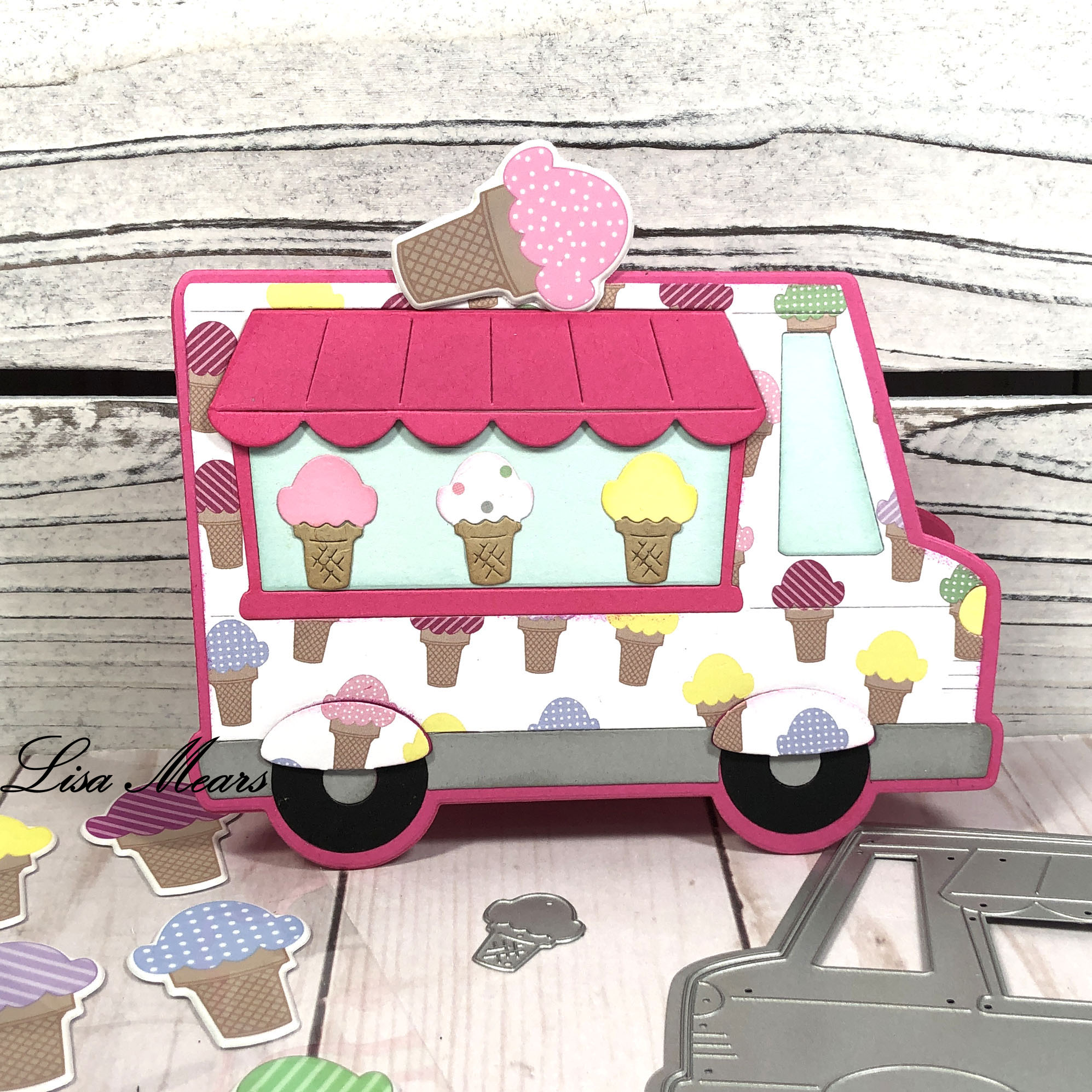 Ice Cream Truck Shaped Card