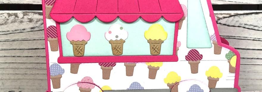Ice Cream Truck Shaped Card