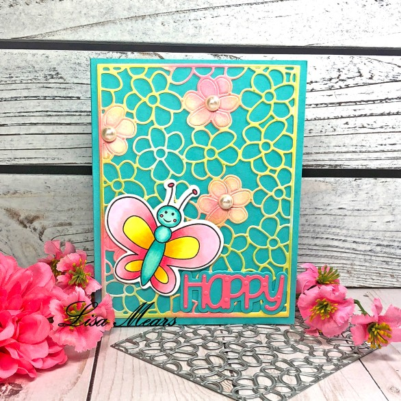 Pop Up Card with Flower Background