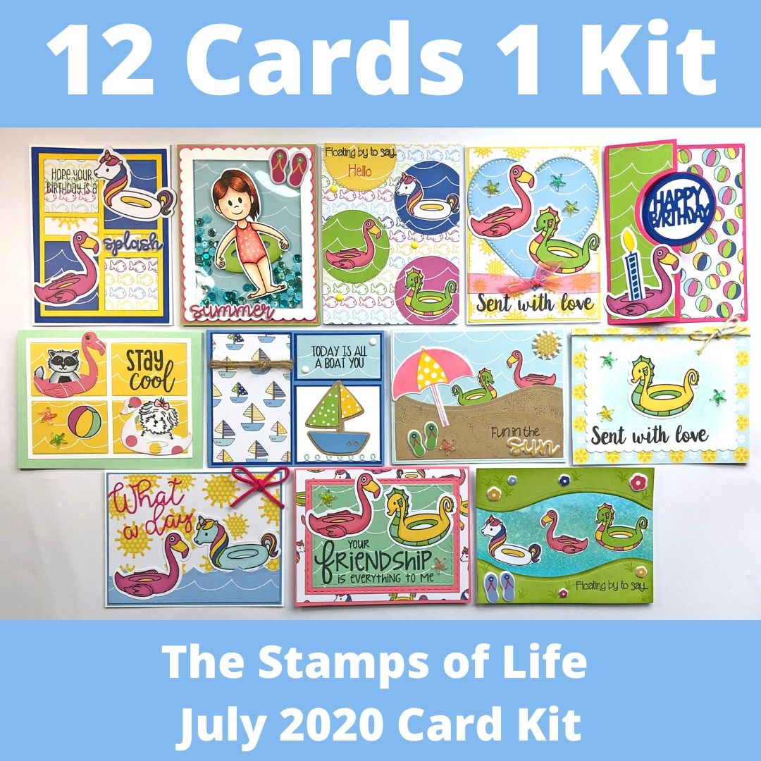 The Stamps of Life July 2020 Card Kit - 12 Cards 1 Kit