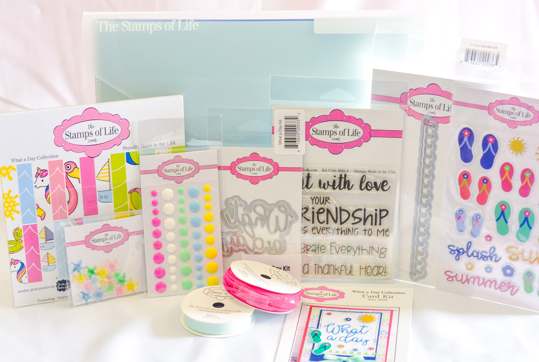 The Stamps of Life July 2020 Card Kit Contents