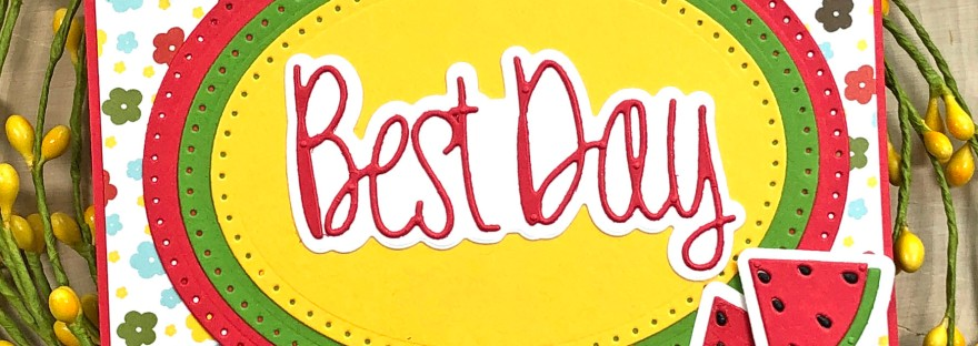 Best Day Card with Dotted Ovals