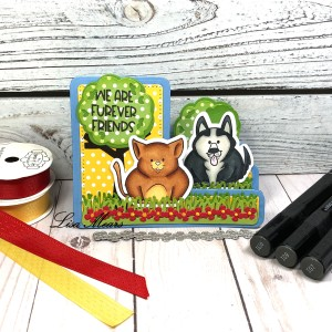 Step-Up Card with Pet Pudgie