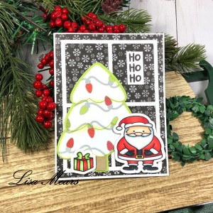 Santa Card with Grid