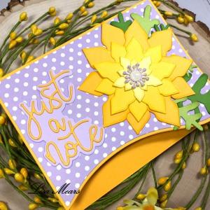 Christmas Flower A2 Card with Poinsettias