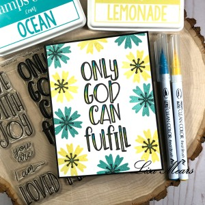 Inspirational Card using Words2LiveBy Stamp
