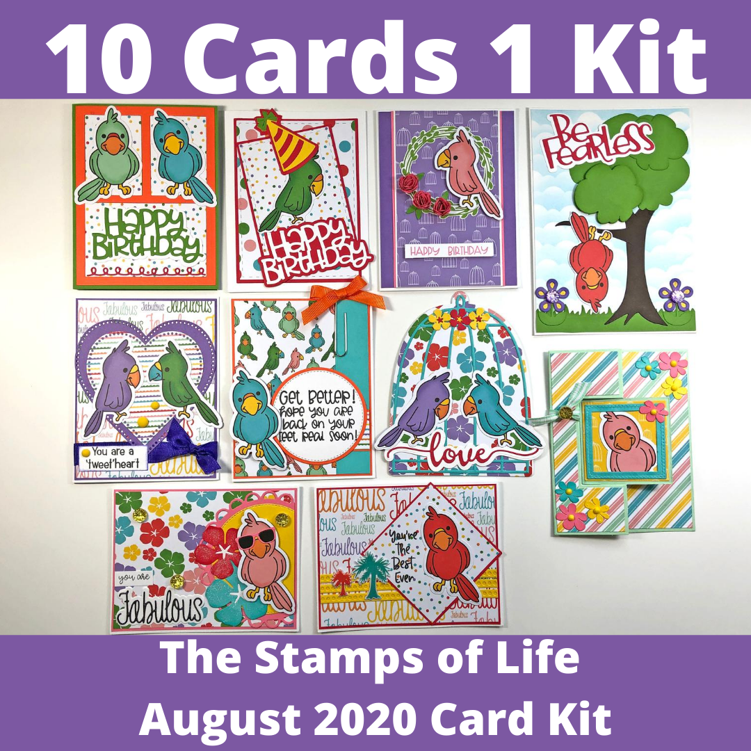 The Stamps of Life August 2020 Card Kit - 10 Cards 1 Kit