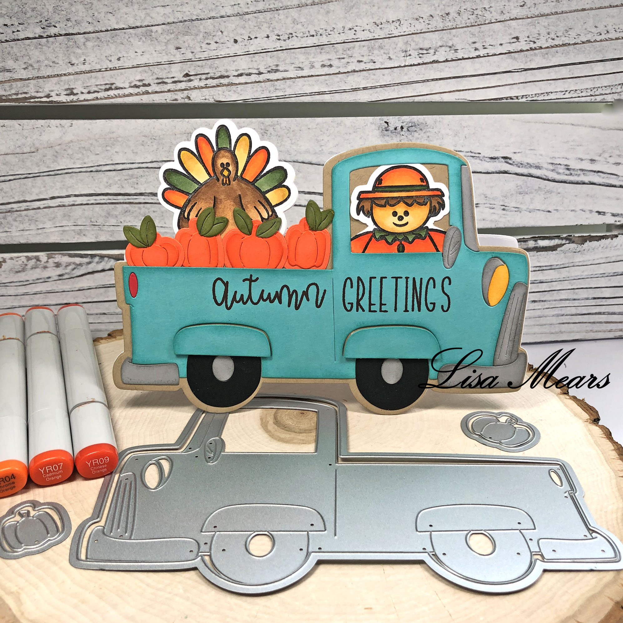 Fall Pick-up Truck Card
