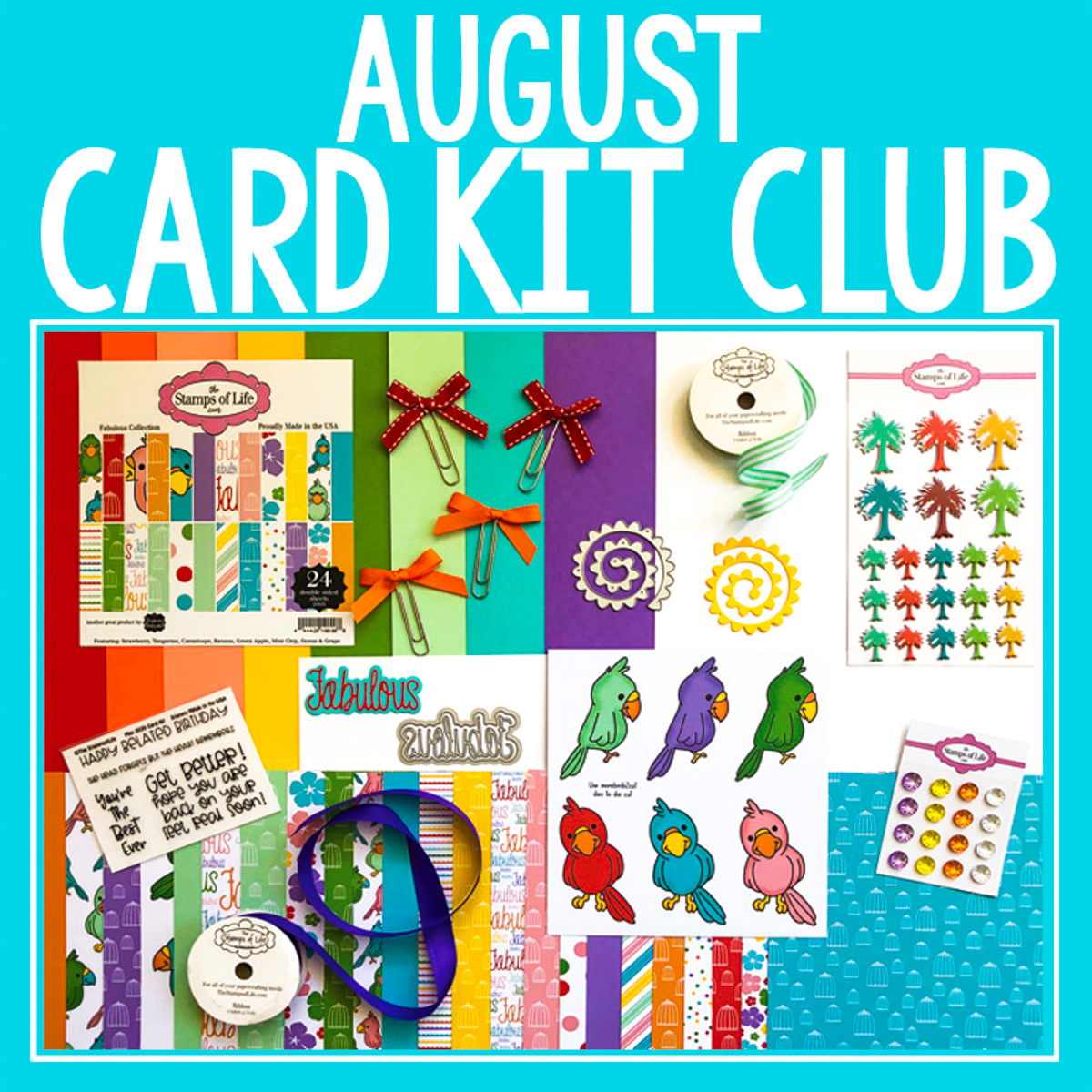 The Stamps of Life August 2020 Card Kit Contents